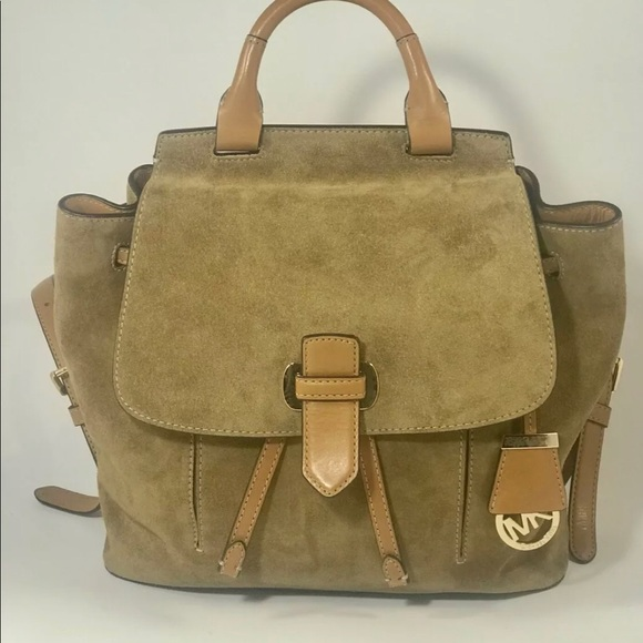 5e59d291df7a MICHAEL Michael Kors Bags | Michael Kors Romy Leather Suede Backpack ...